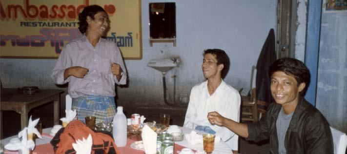 Local men at a bar