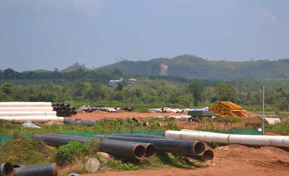 A chosen site seen in Kanpauk area to build a 60MW power plant photo: zin/emg