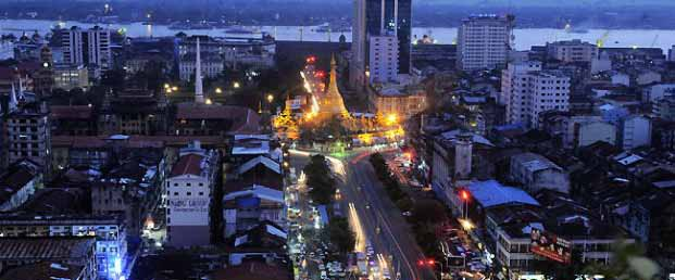 Yangon, Myanmar regularly experiences electricity shortages. | photo: ap