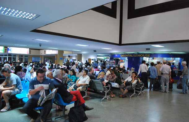 Inside the domestic terminal at Yangon's International Airport photo: simon roughneen/the irrawaddy
