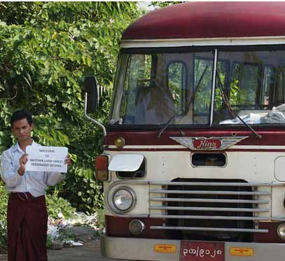 Most buses running in Myanmar are from Japan and South Korea, with used buses from China also in circulation.