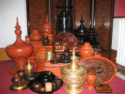 A COLLECTION OF BURMESE LACQUERWARE FROM BAGAN