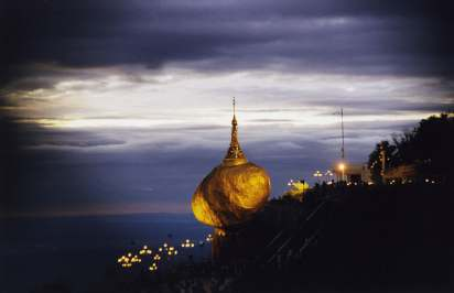KYAIKTIYO PAGODA IS A WELL-KNOWN BUDDHIST PILGRIMAGE SITE IN MON STATE, MYANMAR.