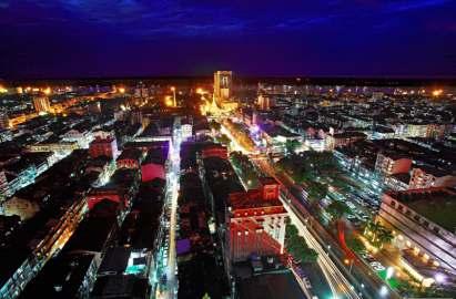 THE CITY OF YANGON AT NIGHT
