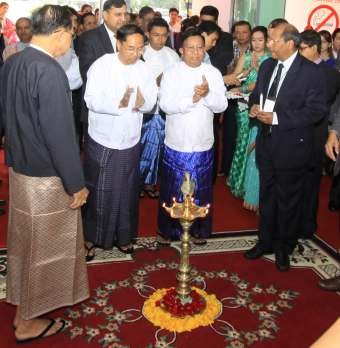INAUGURATION BY MINISTRY OF COMMERCE & INDUSTRY, MYANMAR AND EMBASSY OF INDIA