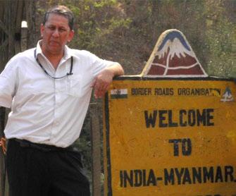 Ranjit Barthakur, Founding Chairman Globally Managed Services, in Tamu, near the Moreh border
