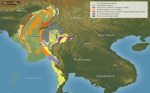 MINERAL BELTS OF MYANMAR
