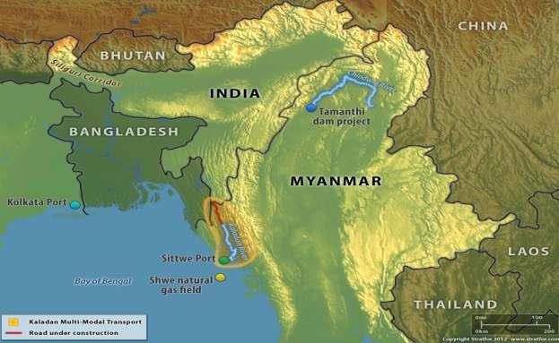 INDIA'S EASTERN CORRIDORS LINK TO MYANMAR