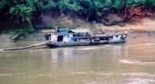 HOUSEBOAT ON CHINDWIN RIVER, MYANMAR