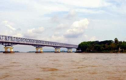 THANLWIN BRIDGE (MAWLAMYAING) IS THE LONGEST BRIDGE IN BURMA AND CONNECTS THE CITY OF MAWLAMYAING WITH MOTTAMA