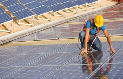 SOLAR POWER PANELS BEING FITTED IN MYANMAR
