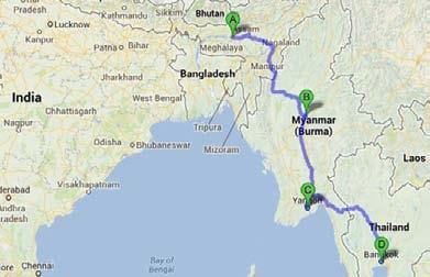 MAP OF PROPOSED INDIA-MYANMAR-THAILAND TRILATERAL HIGHWAY