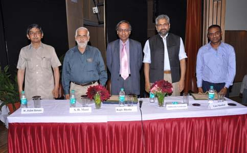 (LEFT TO RIGHT: MR. M. ASLAMPARVAIZ, PROFESSOR S. D. MUNI, AMBASSADOR RAJIV KUMAR BHATIA IS THE DIRECTOR GENERAL OF INDIAN COUNCIL OF WORLD AFFAIRS, MR. SIDDHARTHVARADARAJAN AND DR. UMA SHANKAR)
