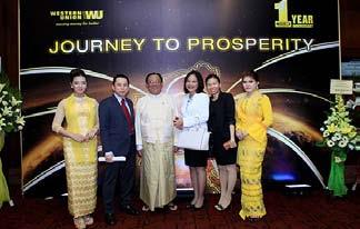 WESTERN UNION CELEBRATES THEIR FIRST ANNIVERSARY IN MYANMAR