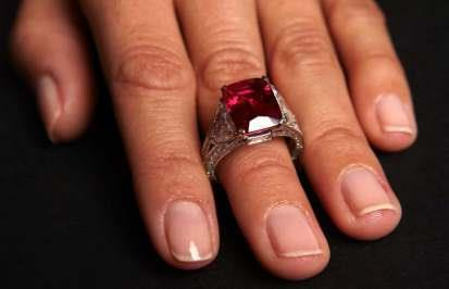 LONDON LUXURY JEWELLER LAURENCE GRAFF HAS PAID A RECORD 8.2 MILLION SWISS FRANCS FOR THE BURMESE GRAFF RUBY