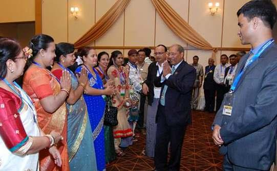 H.E. GAUTAM MUKHOPADHYAY AT THE INDIAN COMMUNITY RECEPTION AT HOTEL MAX IN NAYPYITAW