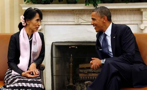PRESIDENT BARACK OBAMA MEETS WITH BURMESE OPPOSITION LEADER AUNG SAN SUU KYI