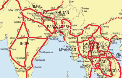 ASIAN HIGHWAY MAP