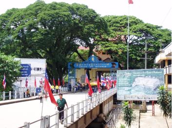 MYANMAR-THAILAND BRIDGE IN MAE SAI TOWN