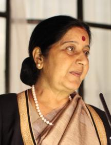 INDIAN EXTERNAL AFFAIRS MINISTER MS. SUSHMA SWARAJ