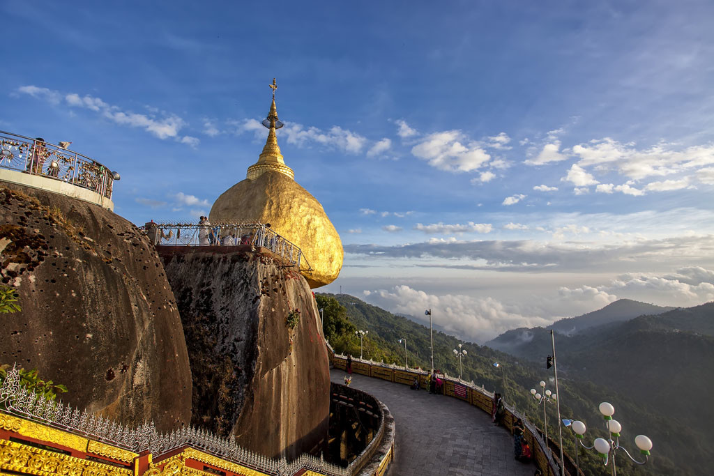 Landscape around Golden Rock in Myanmar