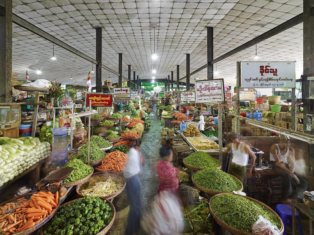 Stacks of fresh produce at Thiri Mingalar Market. Pic: Where Would You Go