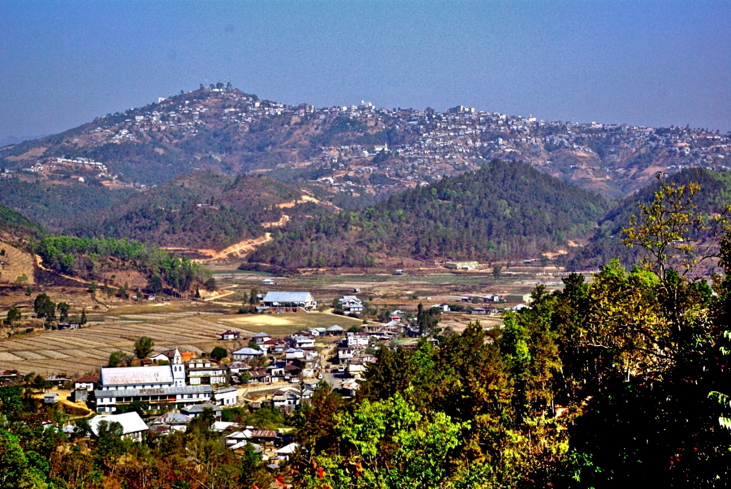 A VIEW OF CHAMPAI TOWN IN MIZORAM WHICH LIES CLOSE TO MYANMAR BORDER