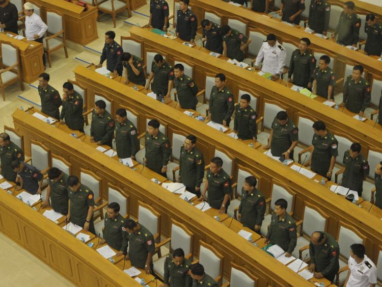 The military, which still holds a quarter of seats in parliament, opposed the move