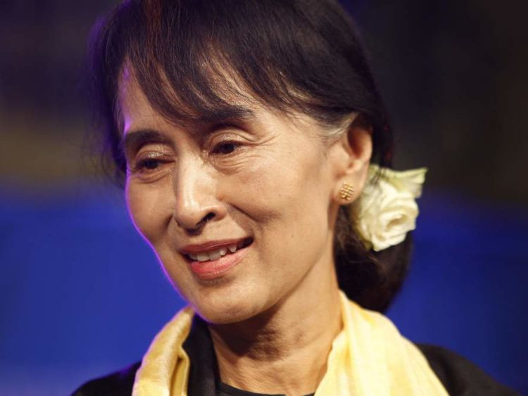 Aung San Suu Kyi leads the country after landmark elections last year