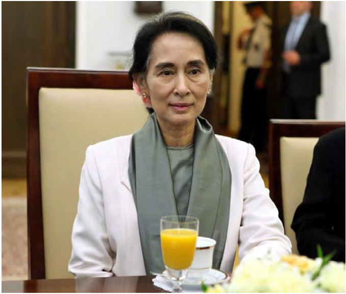 Myanmar State Counselor Ms. Aung San Suu Kyi, who is the chairperson of Union Peace Dialogue Joint Committee (UPDJC)