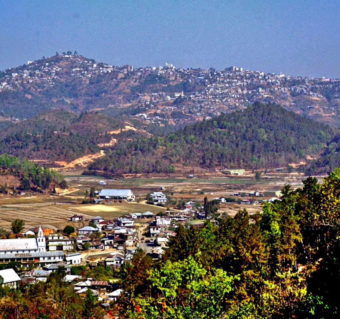 A VIEW OF CHAMPHAI TOWN IN MIZORAM WHICH LIES CLOSE TO MYANMAR BORDER