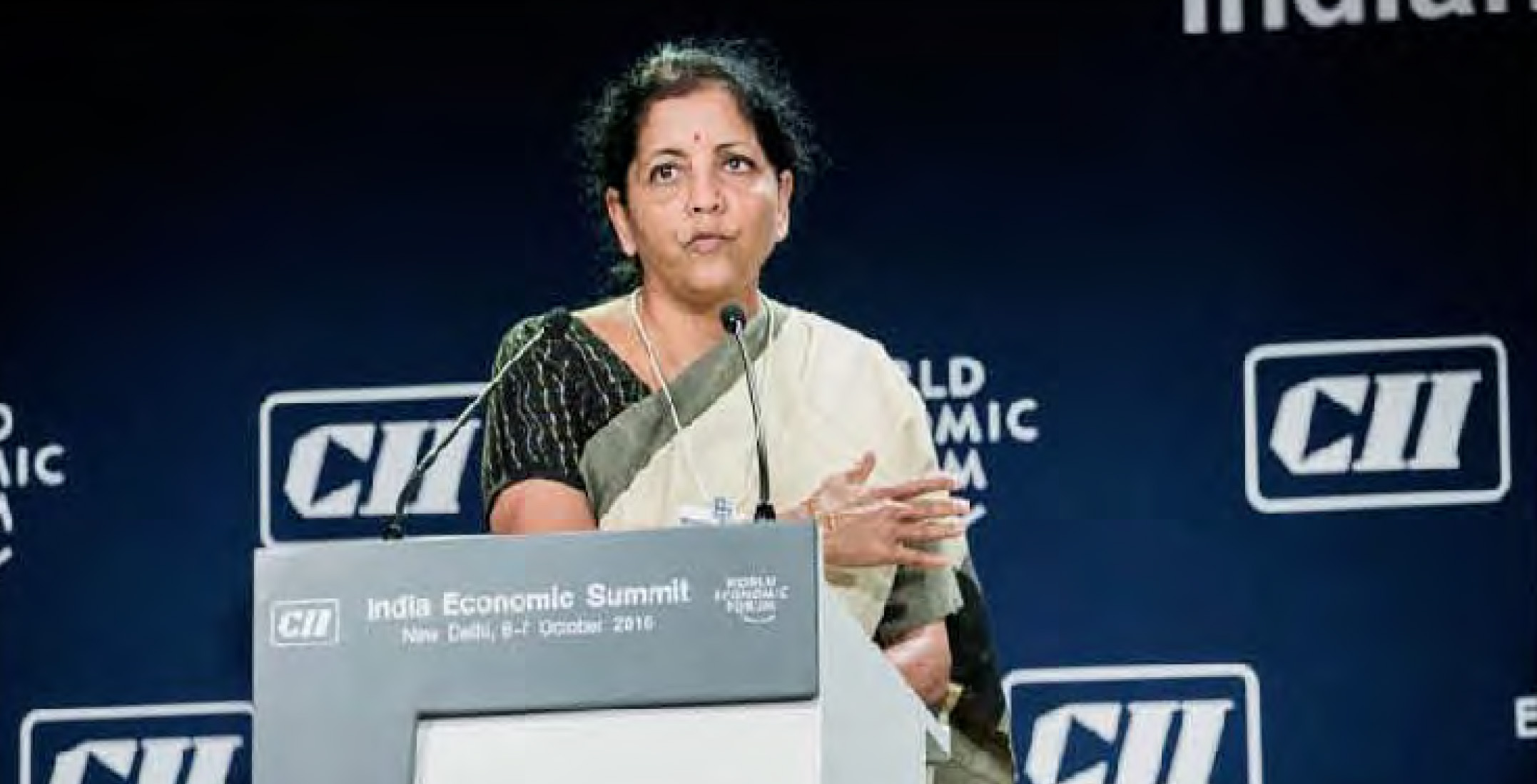 INDIA'S COMMERCE AND INDUSTRY MINISTER MS. NIRMAlA SITHARAMAN