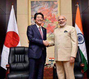 PM Modi and Mr Shinzo Abe
