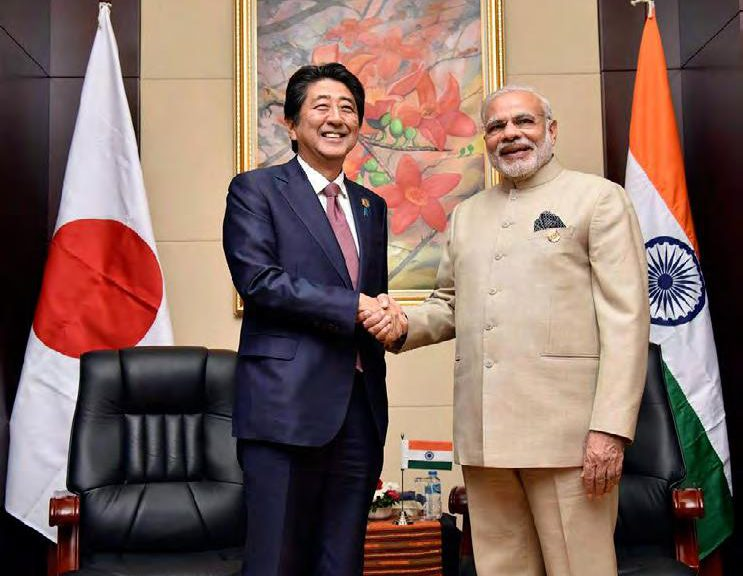PM Modi and Mr Shinzo Abe