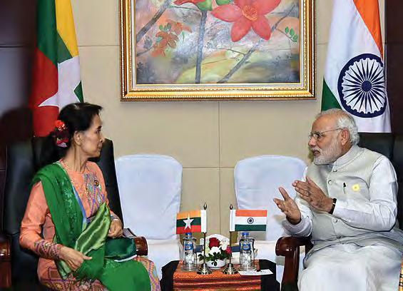 Suu Kyi & PM Narendra Modi