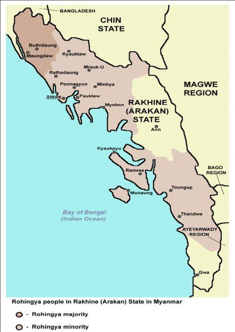 Rohingya Majority in Rakhine State Myanmar