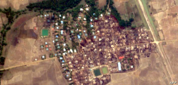 HRW: 200 Homes Burned in Rakhine, Myanmar