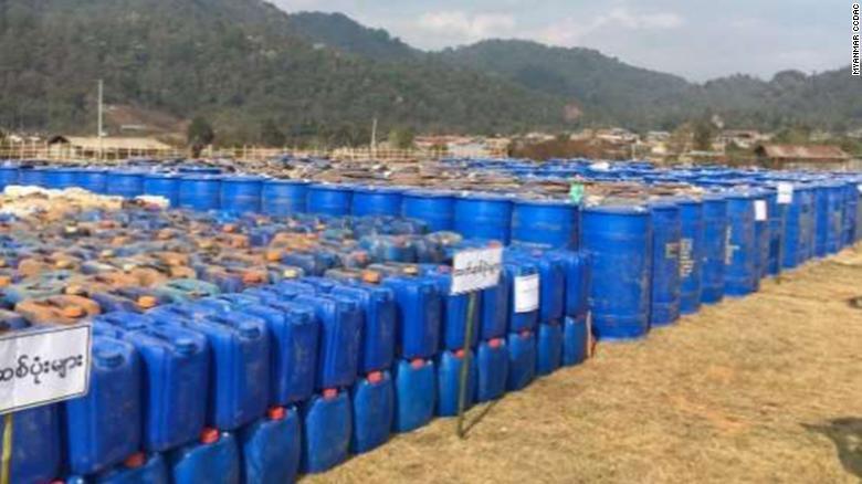Myanmar police make Asia's biggest drug bust in decades, seizing 200 million meth tablets